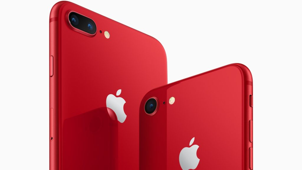 Red iPhone 8 series feature