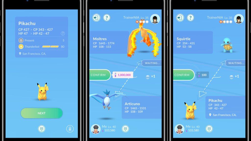 pokemon go trades