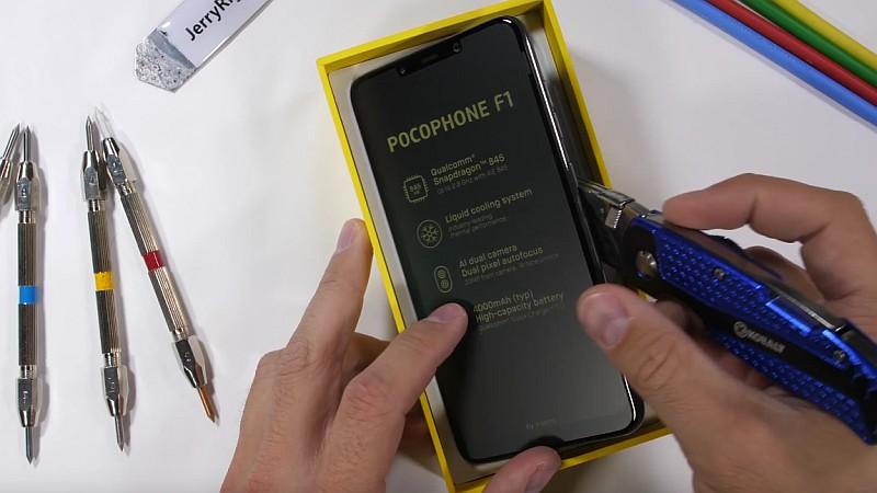 jerryrigseverything pocophone f1