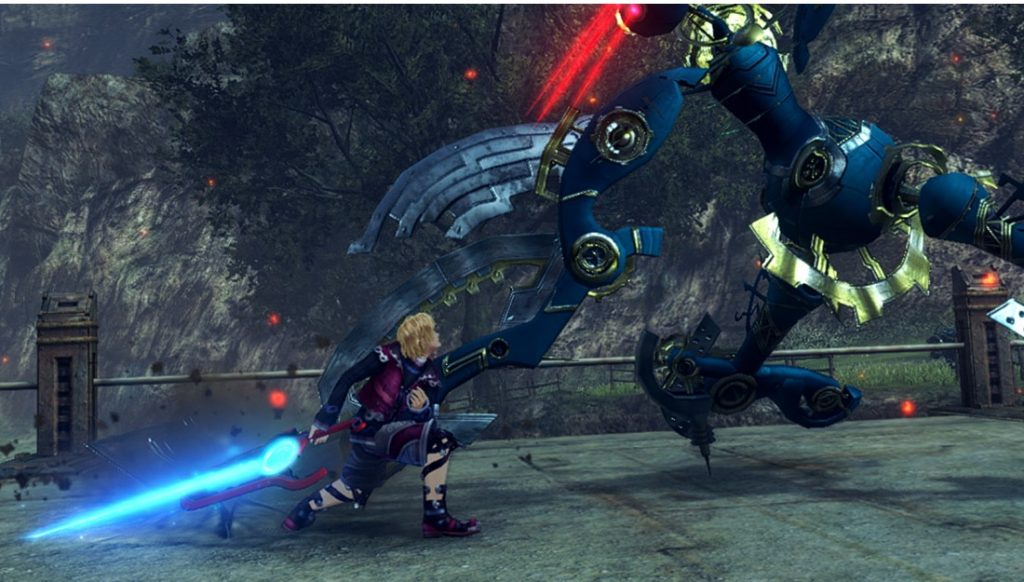 Xenoblade Chronicles Definitive Edition fight