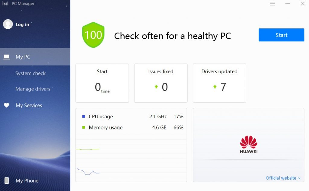 huawei pc manager matebook