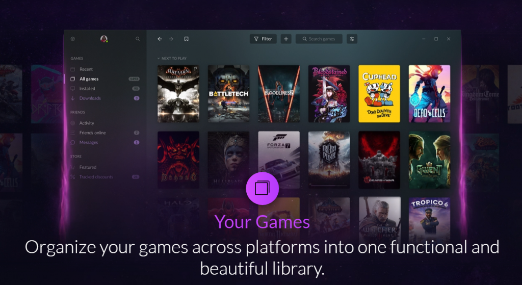gog galaxy games library