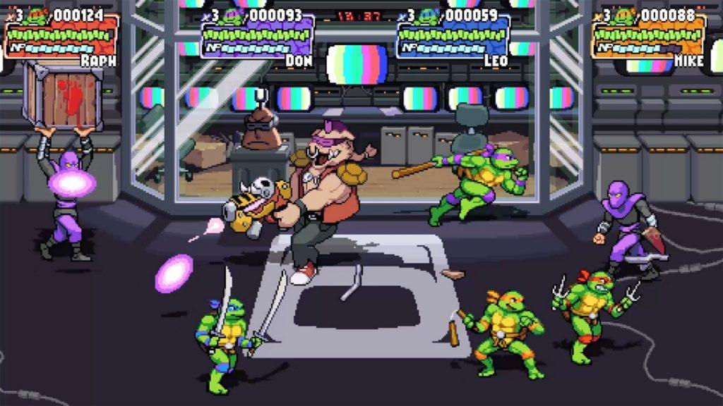 Teenage Mutant Ninja Turtles Shredder's Revenge pixel video game