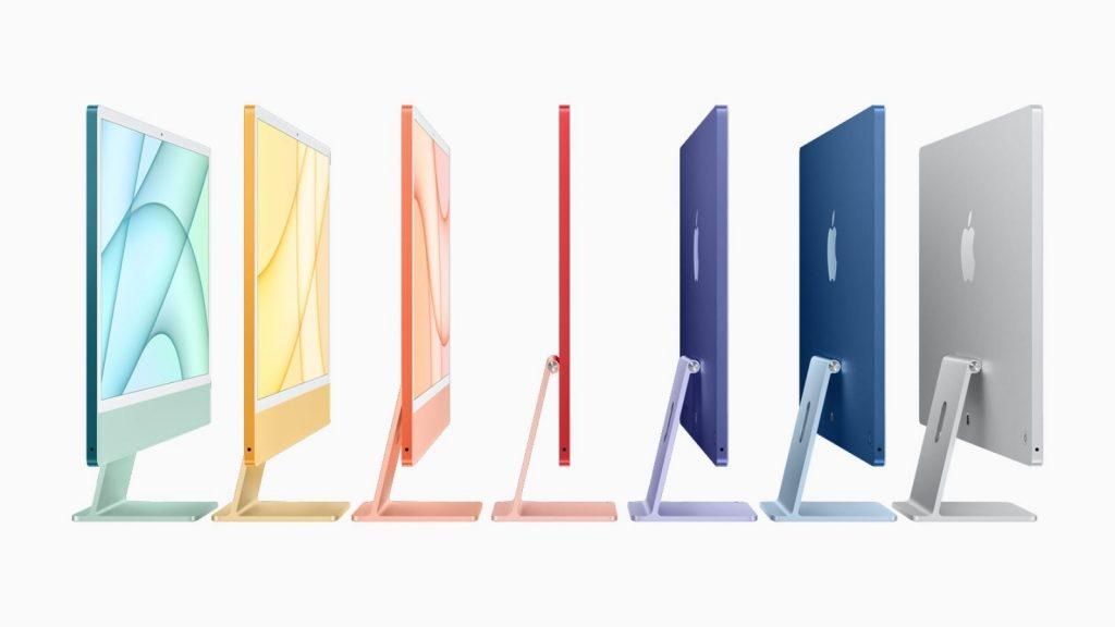 Apple M1 iMac computer colours