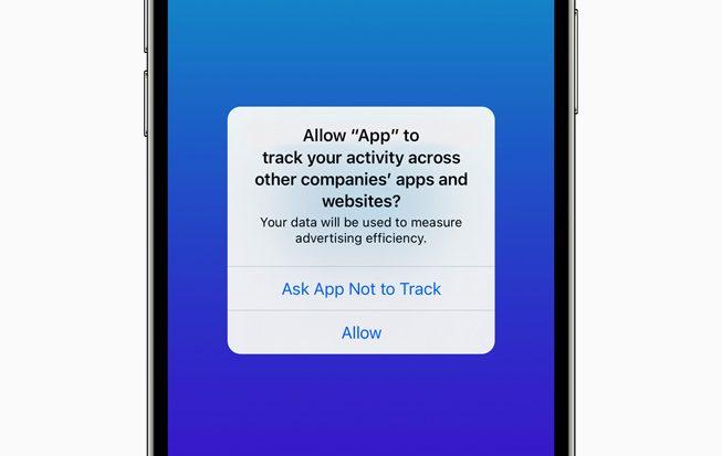 Apple iPhone iOS 14.5 app tracking