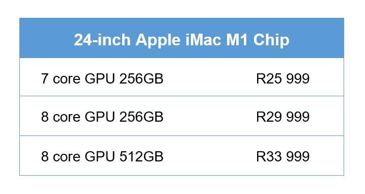 imac m1 price south africa