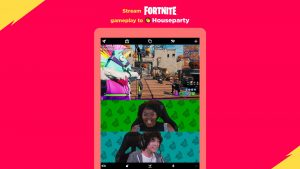 Fortnite Epic Games Houseparty video chat game streaming