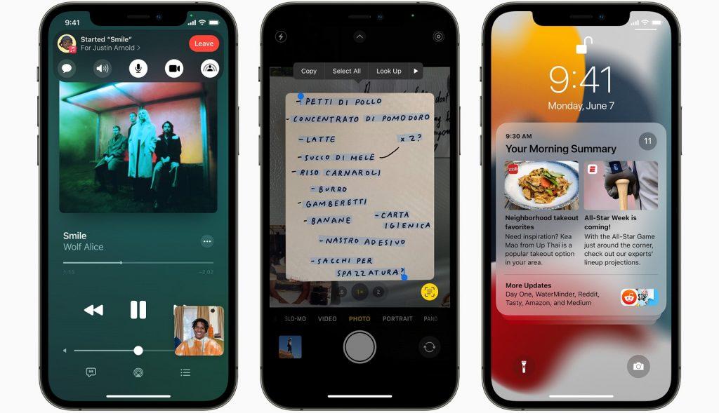 Apple iOS 15 iPhone updates features
