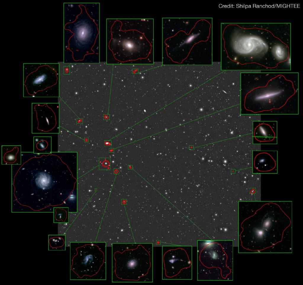 SARAO MeerKAT telescope galaxy group Hydrogen gas