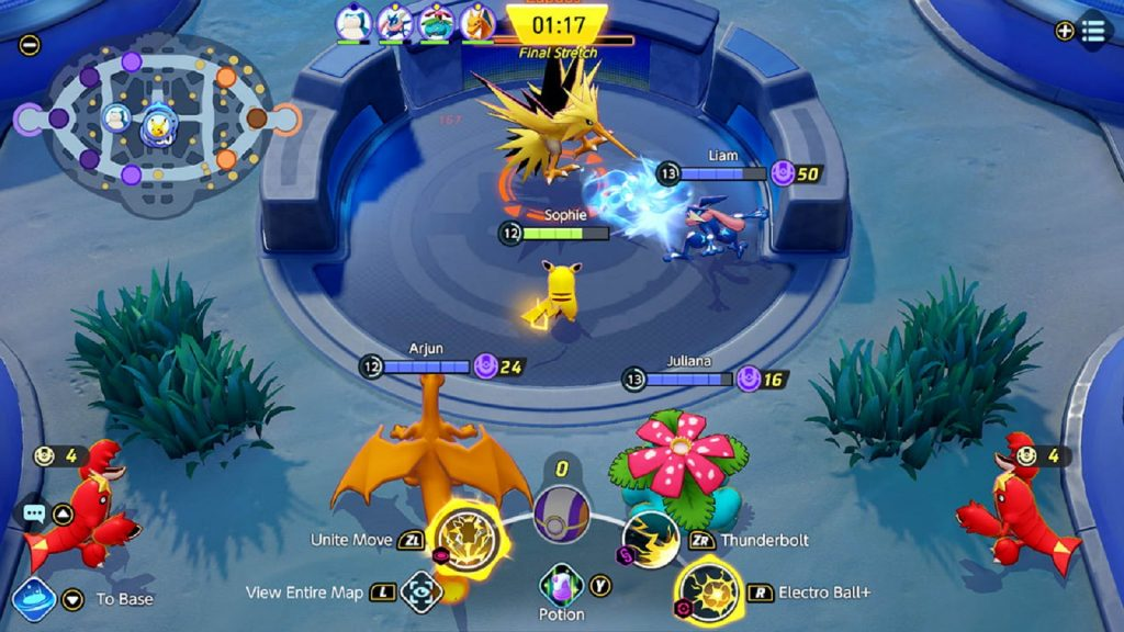 Pokemon Unite MOBA free to play online multiplayer 5v5 battle arena game Nintendo switch console
