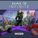 Halo Infinite Waze maps app video game Master Chief Escharum Ghost Warthog