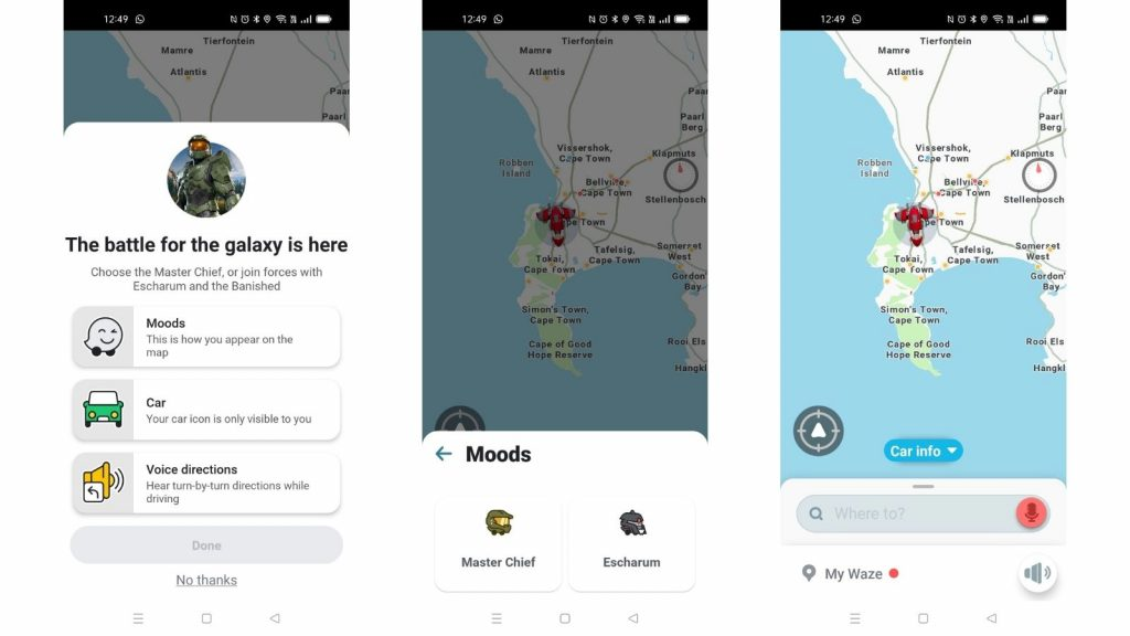 Halo Infinite Waze app maps video game Xbox