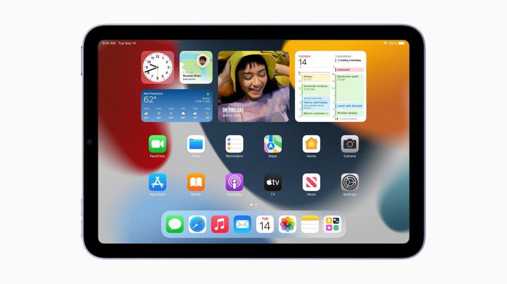 Apple iPad Mini 6th gen tablet iPadOS 15