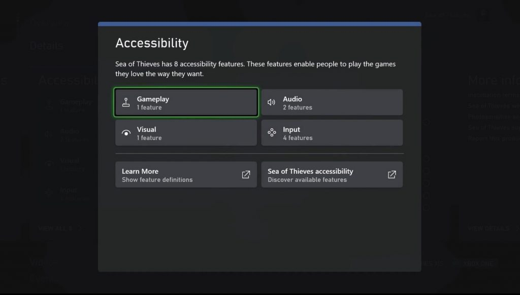 Xbox video games accessibility tags features