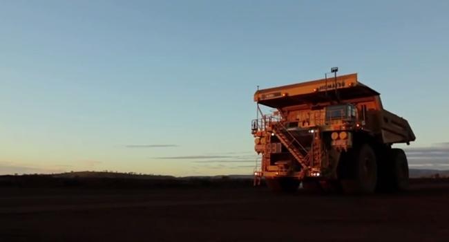 Autonomous mining truck