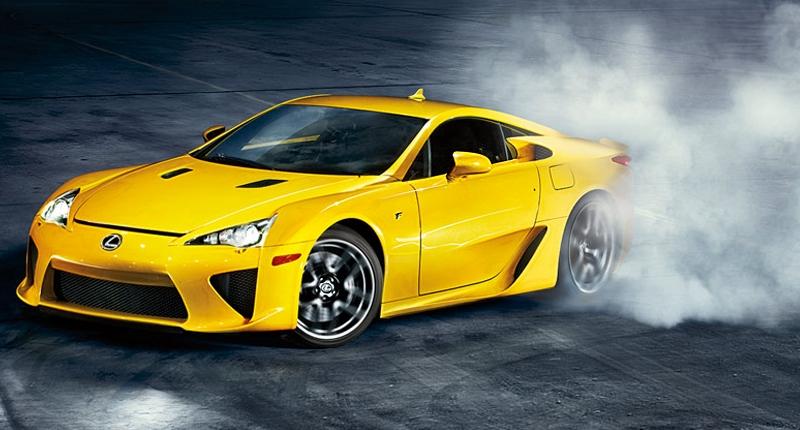 Lexus LFA yellow