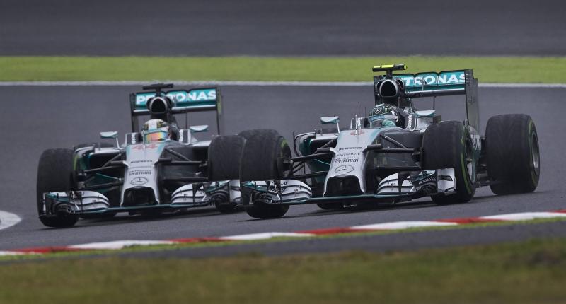 Mercedes Hamilton Rosberg Japanese GP 2014