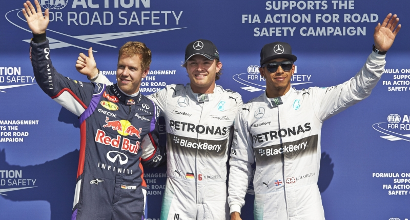 Vettel Rosberg Hamilton Spa 2014