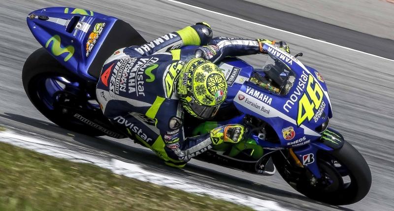 Rossi preseason testing Sepang 2015