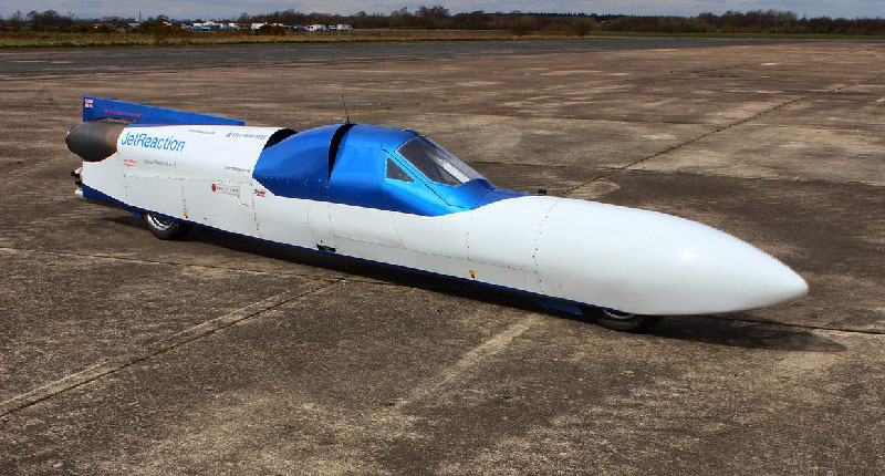 Jet Reaction jetbike being tested on the runway at Elvington Airfield Yorkshire, England 16