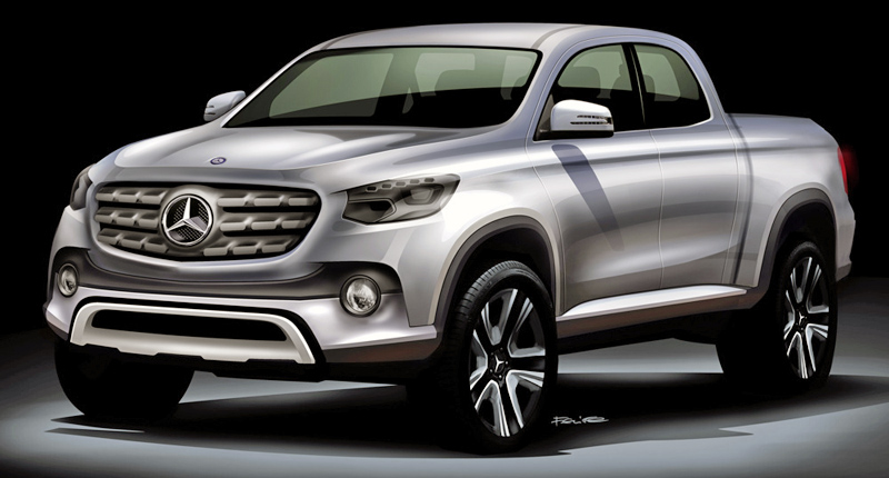 Sketch of the new Mercedes-Benz Midsize Pickup; Skizze des neuen Mercedes-Benz Midsize Pickup
