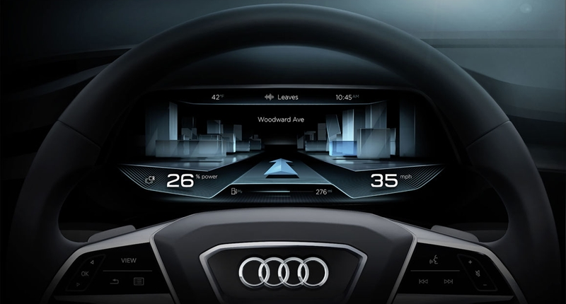 Audi H-Tron Steering wheel
