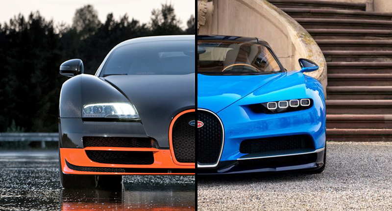 Bugatti Veyron Price 2015 >> Bugatti Chiron Vs Bugatti Veyron Here S How These Two