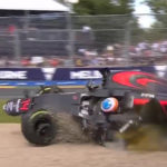 Fernando Alonso F1 crash screenshot