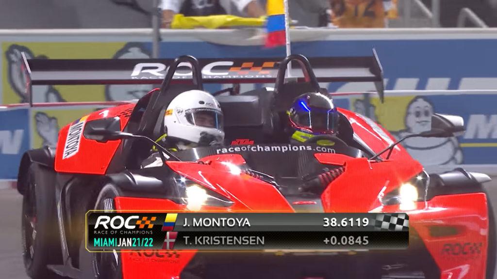Juan Pablo Montoya at Race of Champions