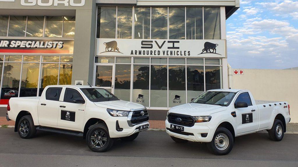 SVI Engineering South Africa bulletproof bakkie vehicles Ford Ranger Toyota Hilux