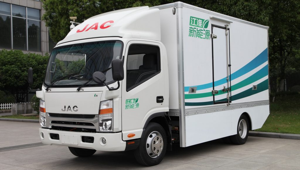 JAC Motors South Africa N55 EV electric truck