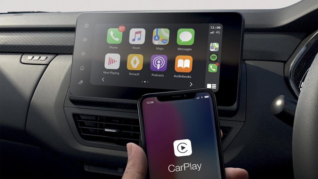 Renault Kiger infotainment interior crossover SUV