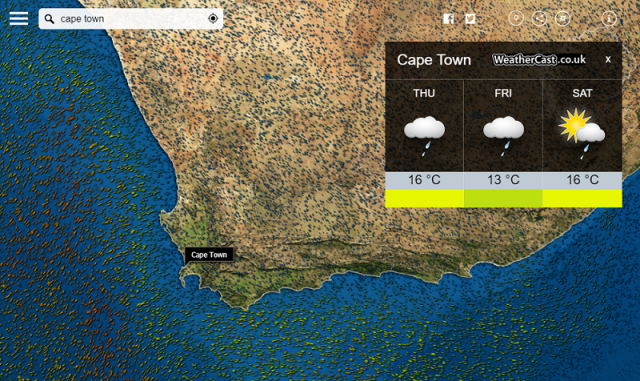 meteoearth cape town weather