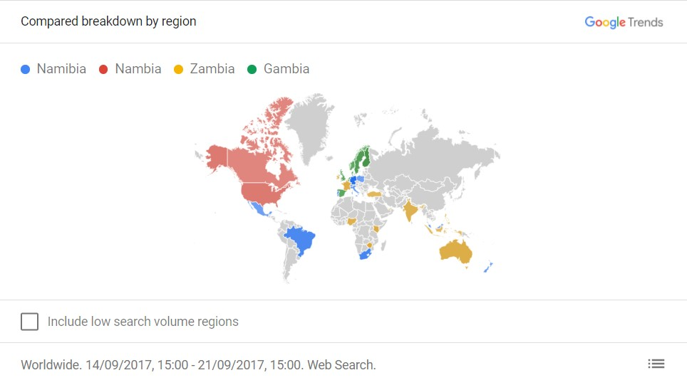 google trends countries