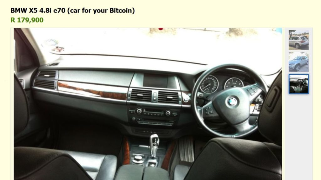property car for bitcoin gumtree