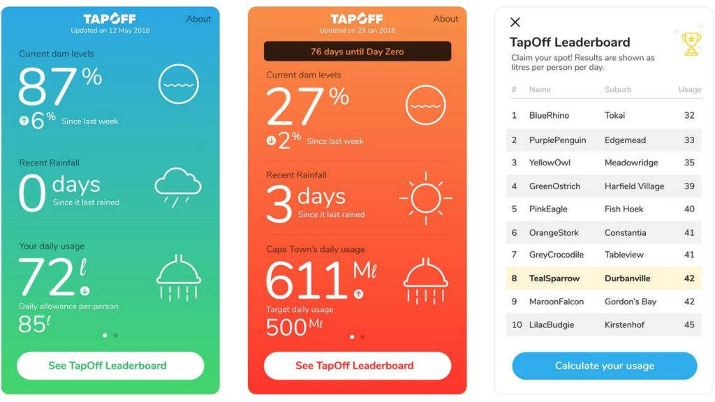 tapoff cape town water app ios