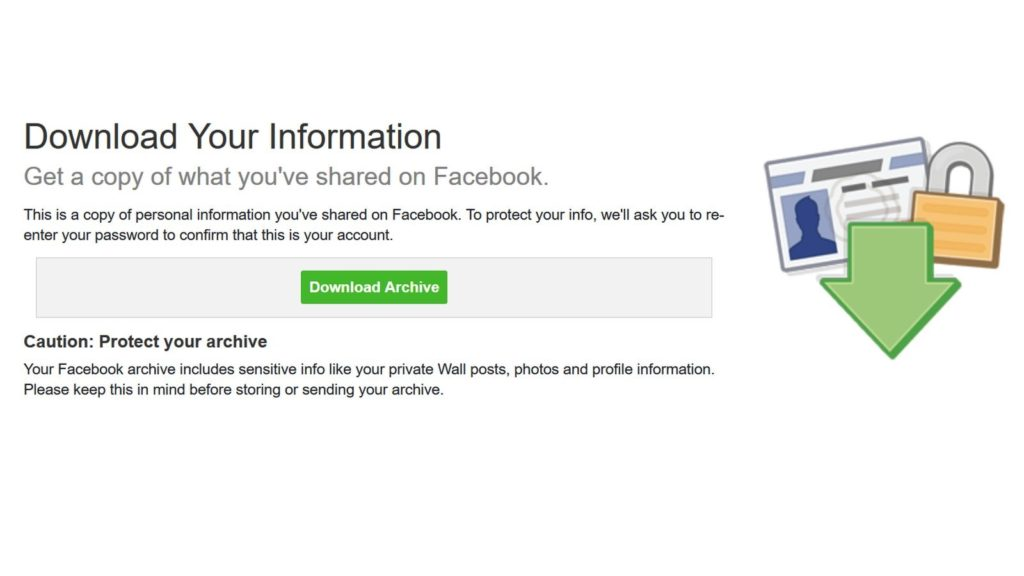 facebook download your data 1
