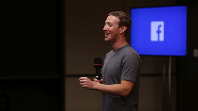 mark zuckerberg facebook interview stock