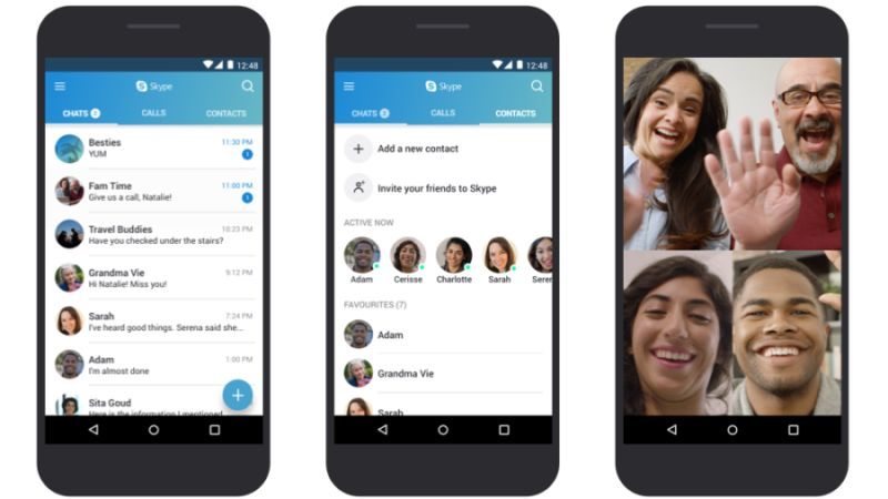 skype for android update march 2018