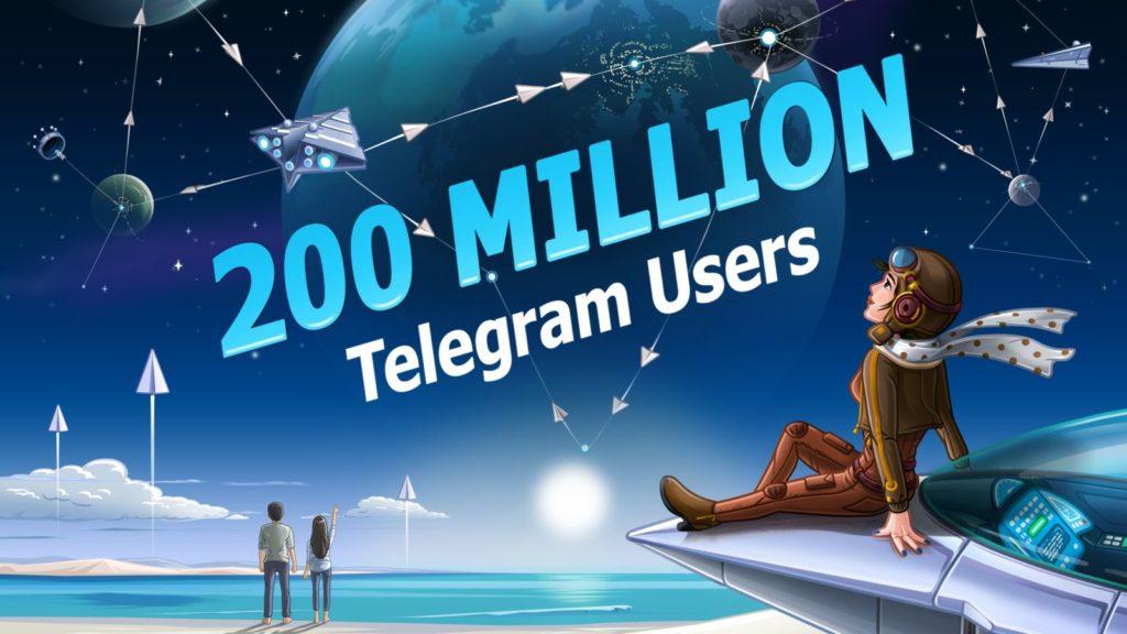 telegram 200 million users