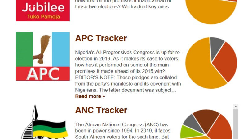 africa check promises tracker