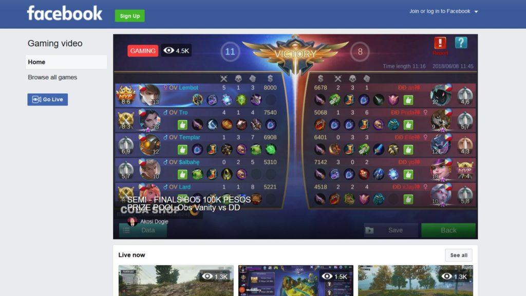 fb gg facebook gaming platform