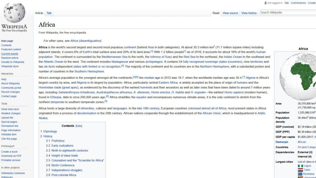 wikipedia africa wikimania 2018