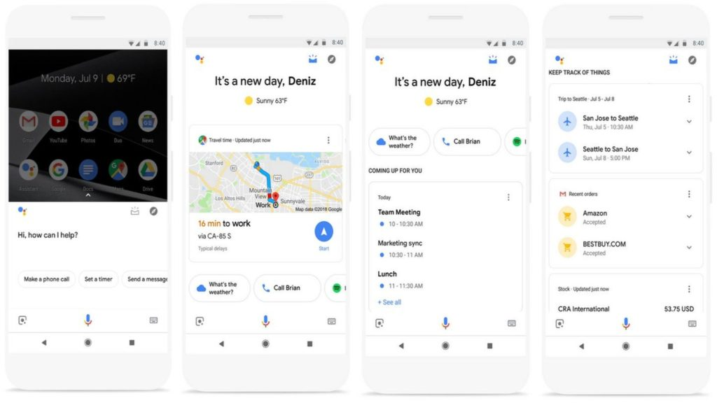 google assistant now cards