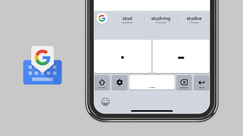 google gboard morse code android ios