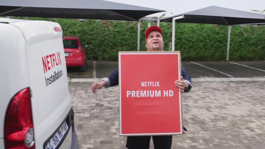 netflix man in a van ad