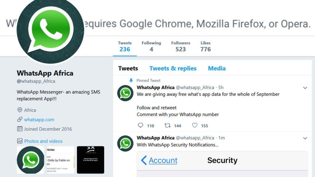 whatsapp africa promoted tweet