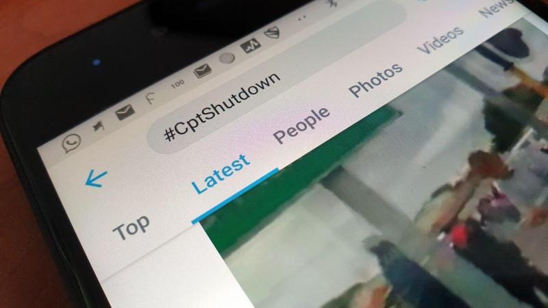 cape town shutdown twitter
