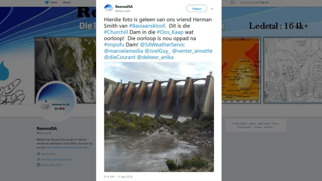 churchill dam eastern cape september 10 reenval twitter