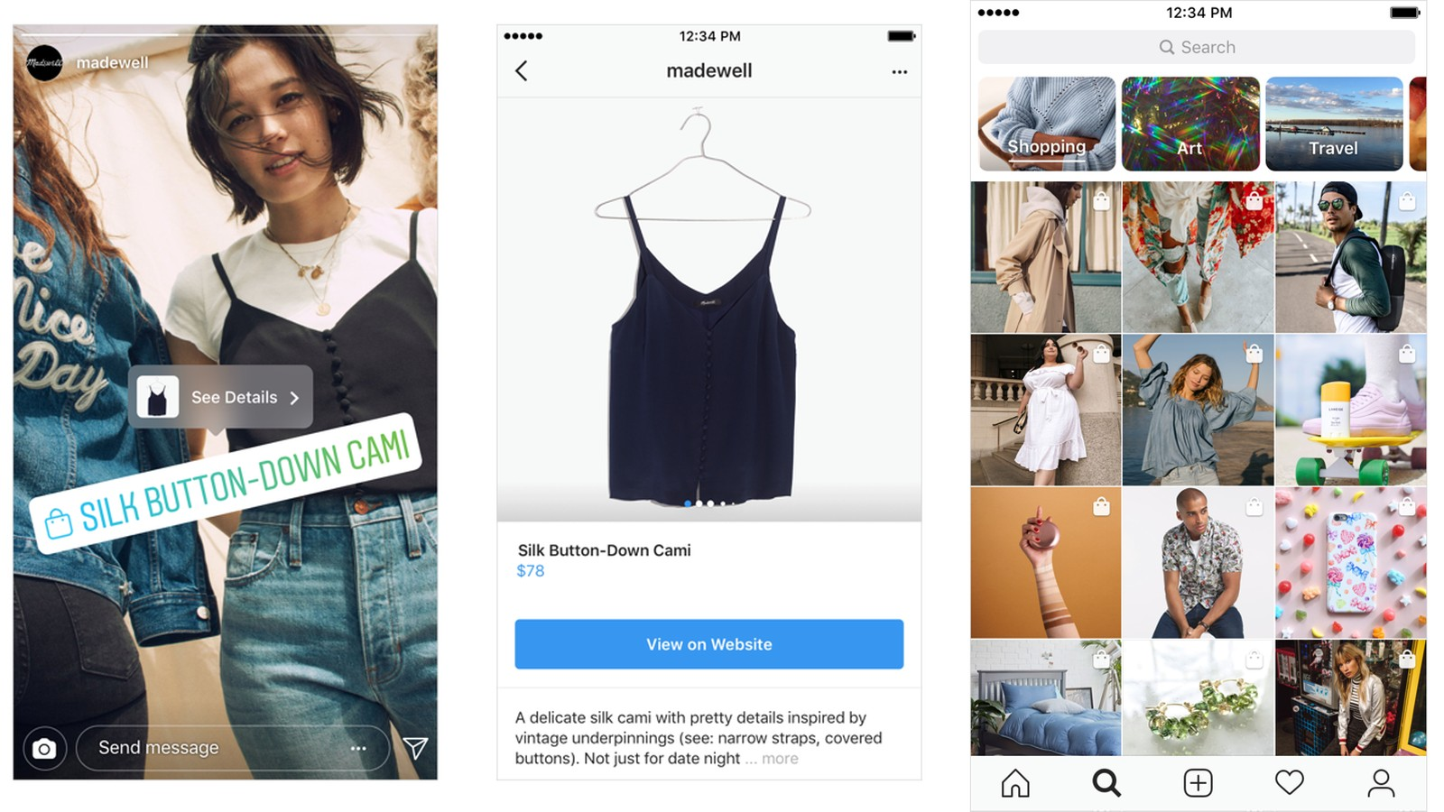 Instagram launches its new shopping experience on Insta Stories